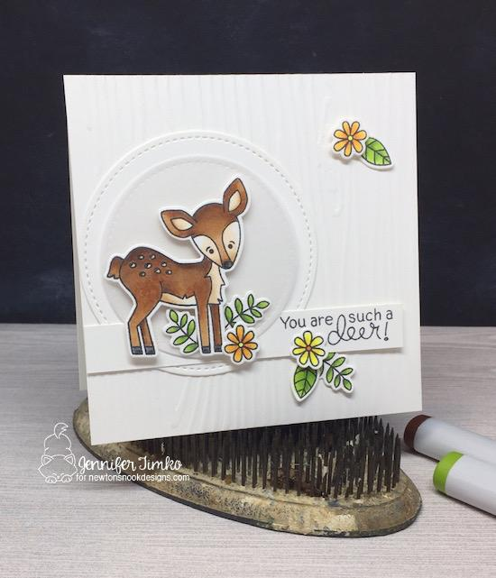 Fawn card by Jennifer Timko | Deer Friend Stamp Set by Newton's Nook Designs #newtonsnook #handmade