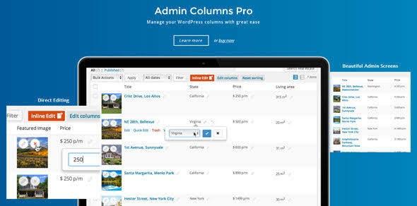 Admin Columns Pro v4.7.1 + Addons Nulled