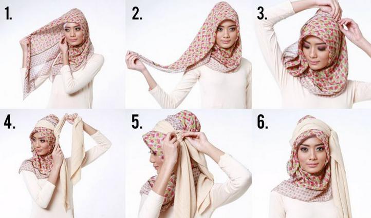 Contoh Tutorial Cara Memakai Hijab Modern Simple untuk Menghemat Waktu