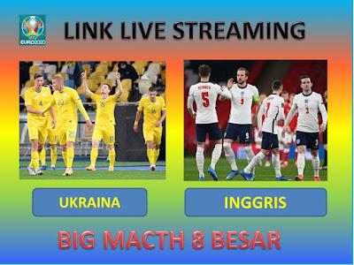 Link Live Streaming Euro 2020 UKRAINA VS INGGRIS Berlangsung Di Stadion Olimpico Roma