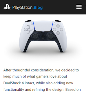 PlayStation 5 Blog DualSense hamburger button menu mobile
