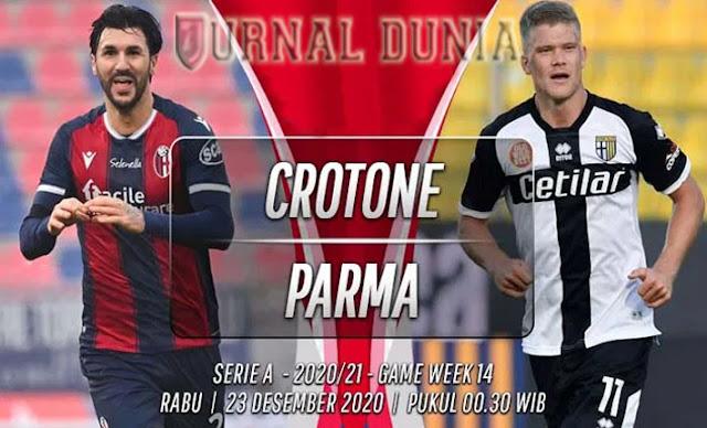 Prediksi Crotone Vs Parma, Rabu 23 Desember 2020 Pukul 00.30 WIB