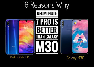 6 Reasons Why Redmi Note 7 Pro Is Better Than Galaxy M30