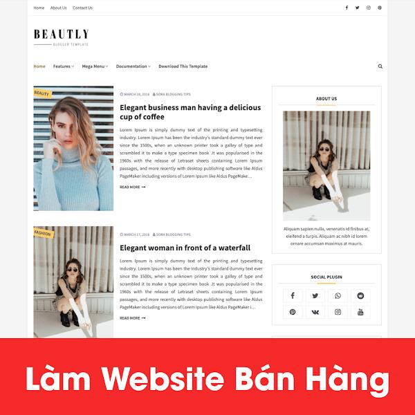 [A121] Tìm nơi thiết kế website mỹ phẩm đẹp, thu hút khách hàng
