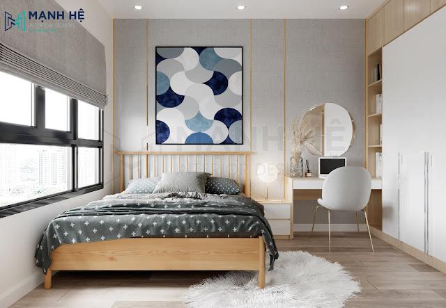 Mẫu thiết kế phòng ngủ đơn giản 8m2