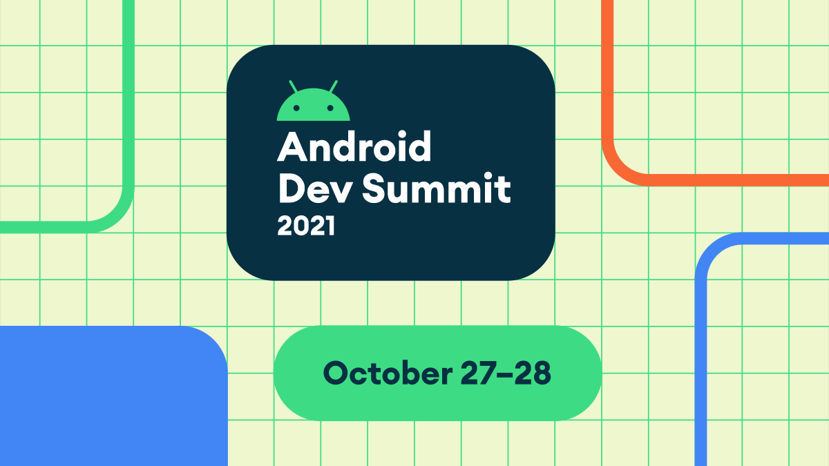 Header with text saying Android Dev Summit 2021 October 27-28