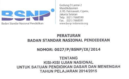 Kisi Kisi Ujian Nasional Smp Mts Sma Ma Smk Tahun Pelajaran 2014 2015 Smk 02 Islam 45 Ambulu
