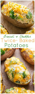Broccoli and Cheddar Twice-Baked Potatoes