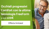Logo Occhiali24 : lenti progressive + montatura solo € 109 (buono da 80€)
