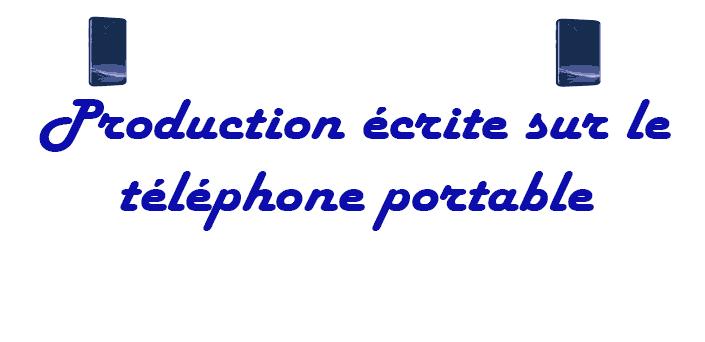 Production écrite sur le téléphone portable