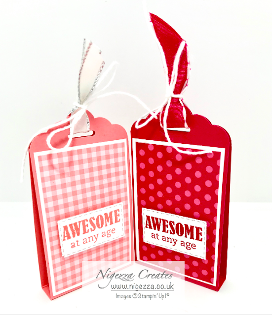 Nigezza Creates, Stampin' Up! Tab Topper Punch, Treat Holder