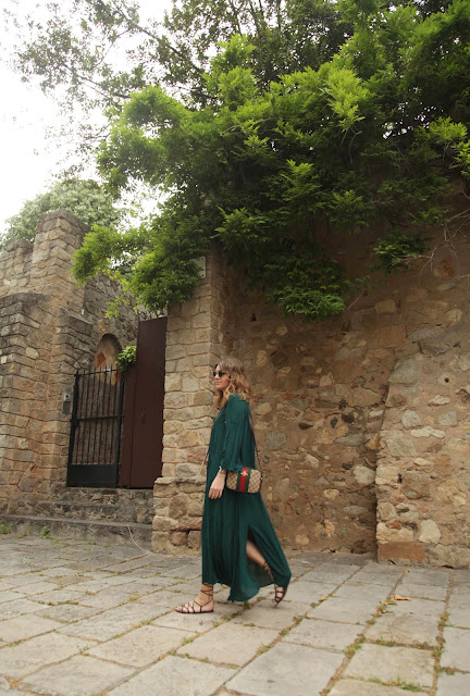 summer style - maxidress and gladiator sandals {Cool Chic Style Fashion}