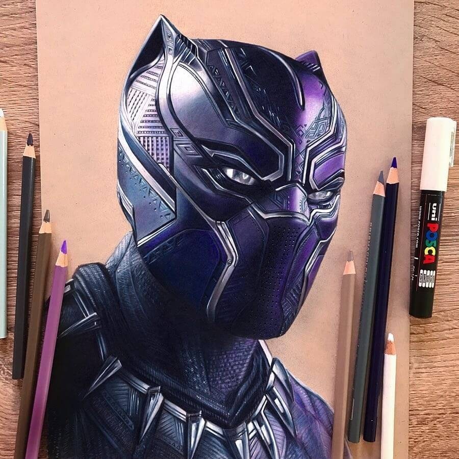 01-Black-Panther-Chadwick-Boseman-Chris-Superhero-and-Villain-Realistic-Pencil-Drawings-www-designstack-co