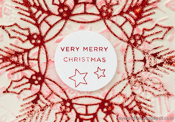 Layers of ink - Snowflake Cards Tutorial by Anna-Karin Evaldsson. With Simon Says Stamp Cheer and Joy.
