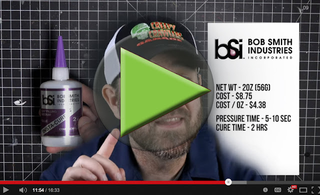 Which CA Glue is BEST? - BSI Insta-Cure is #1 - Best Super Glue - CA Adhesive - Performance test - Hobby RC - Creepy Crawlers Garage - BSI Adhesives