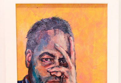 Don't touch the face - self portrait during Covid-19 - 73 x 47cm