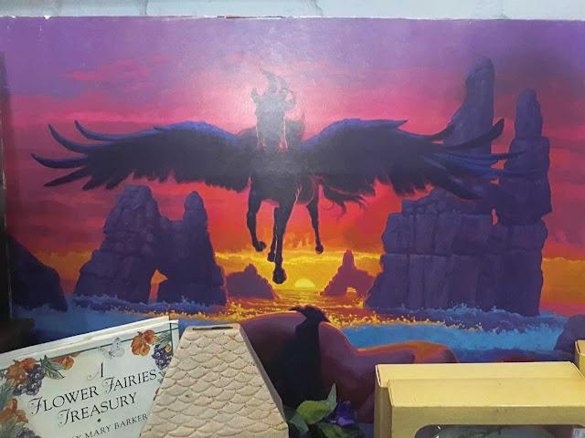 Multicoloured Pegasus print in Woodstock antique store