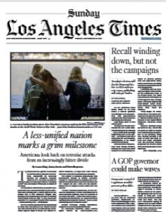 Los Angeles Times Magazine 12 September 2021
