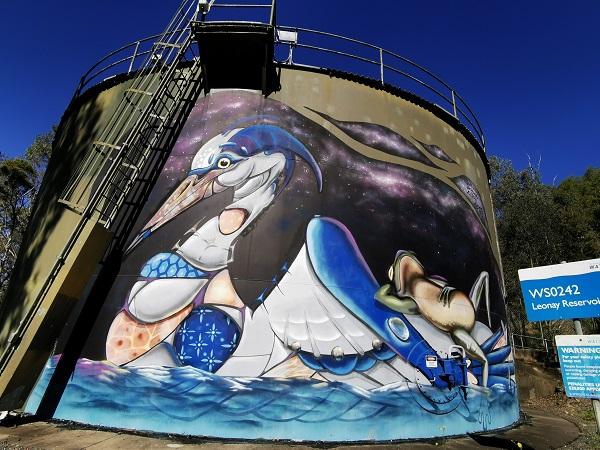 Glenbrook Painted Water Tank by Scott Nagy & KrimsoneGlenbrook Painted Water Tank by Scott Nagy & Krimsone