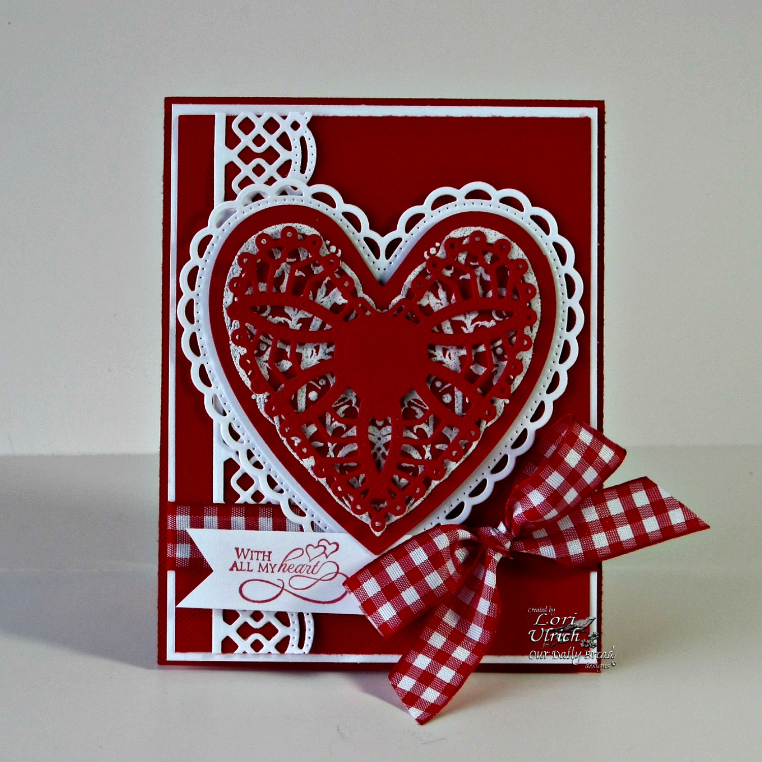 Stamps - Our Daily Bread Designs Bless Your Heart, ODBD Custom Ornate Hearts Die, ODBD Custom Beautiful Borders Dies