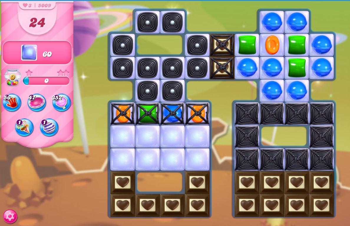 Candy Crush Saga level 5009