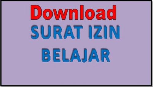 Download Contoh Surat Ijin Belajar Guru