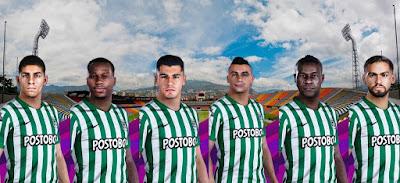 PES 2021 Facepack Atletico Nacional by 0coolmodfaces