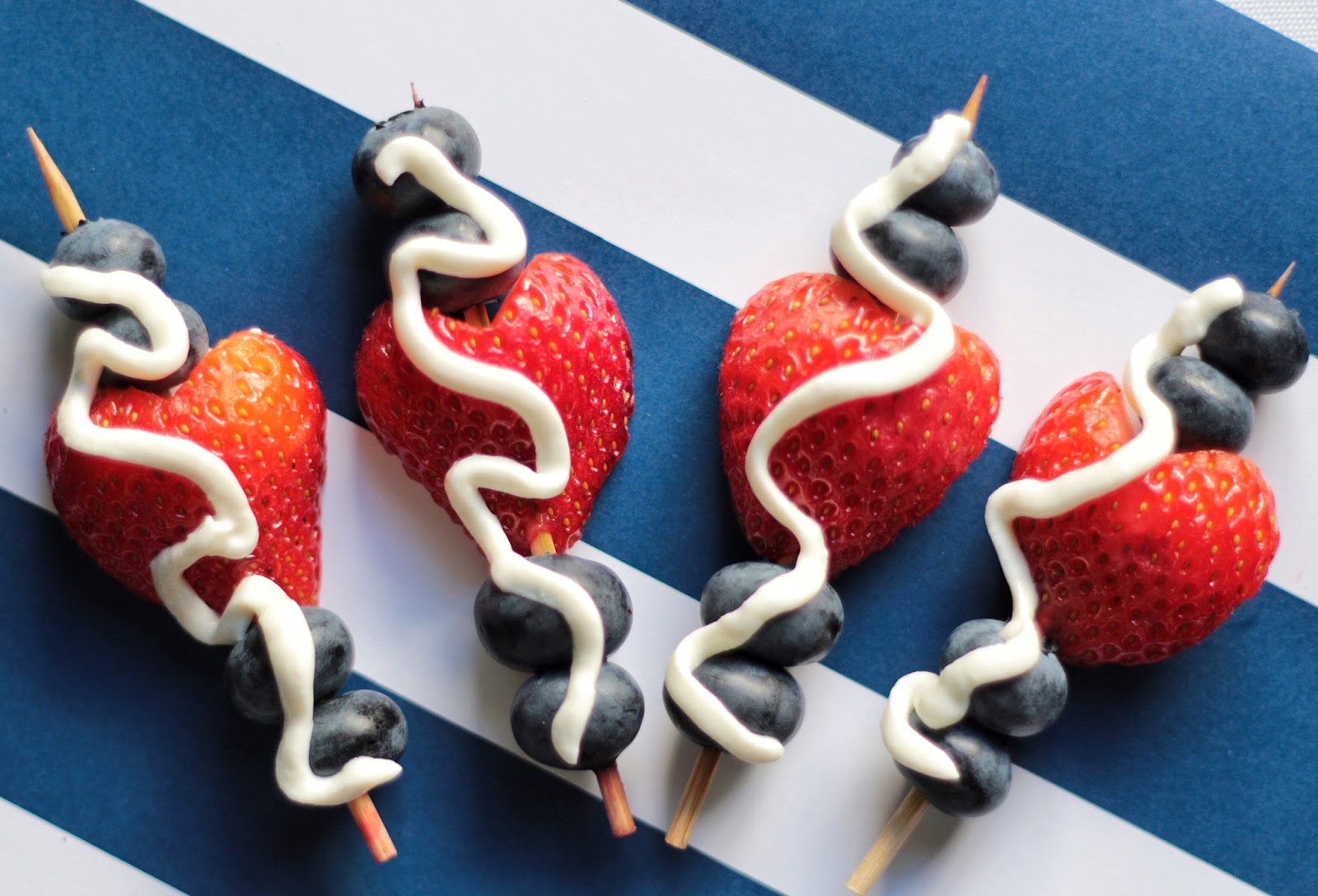 blueberry strawberry skewer