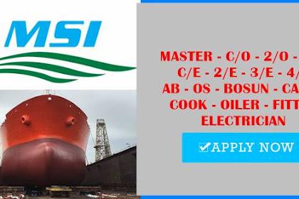 Career In Bulk Carriers, Oil Tankers, Multi Purpose Vessels