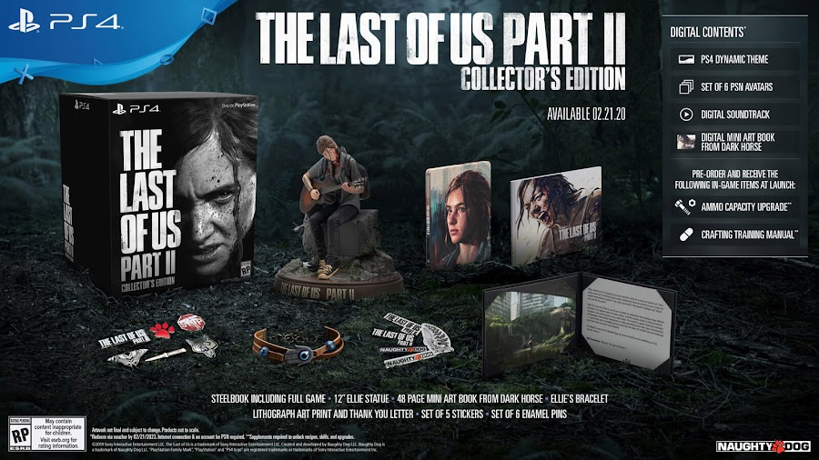 last of us part 2 collector's edition ps4 naughty dog sony interactive entertainment