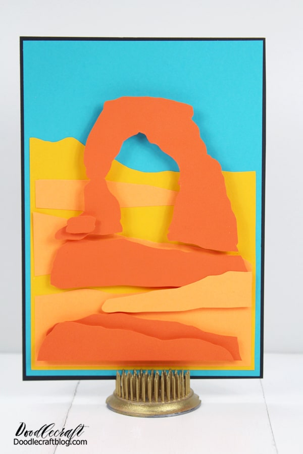 Have you been to Delicate Arch in Arches National Park? What's a famous landmark that you would make into a dimensional paper craft? Like, Pin and Share!