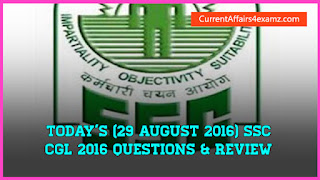 SSC CGL 2016 Questions
