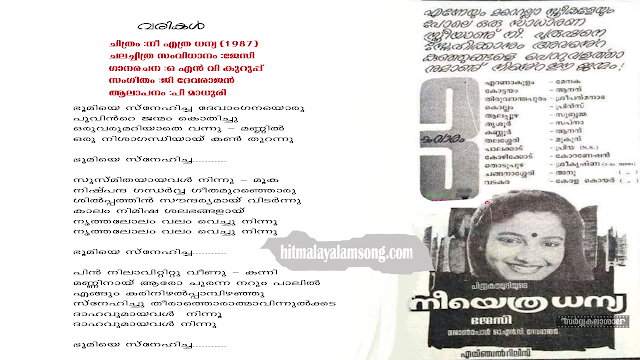 Bhoomiye Snehicha | Nee Ethra Dhanya Malayalam Movie