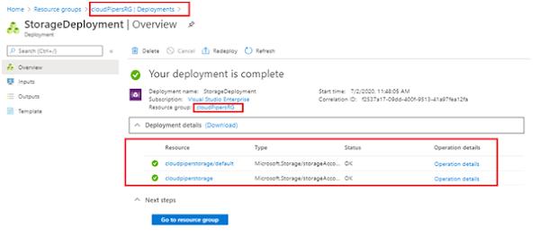 Deployment using Azure CLI