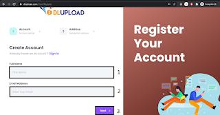 Register Your Dlupload Account 1