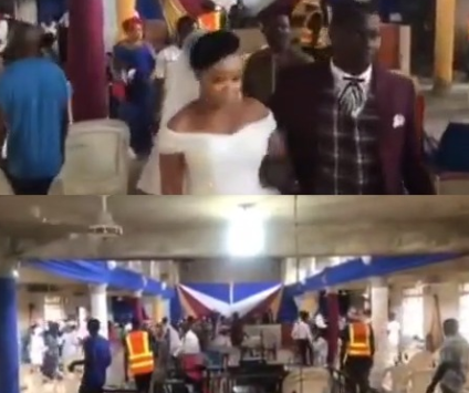 Couple and their guests took to their heels as Coronavirus task force disrupt their wedding
