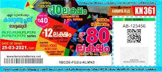 25-03-2021 Karunya-Plus kerala lottery result,kerala lottery result today 25-03-21,Karunya-Plus lottery KN-361,kerala todays lottery result live