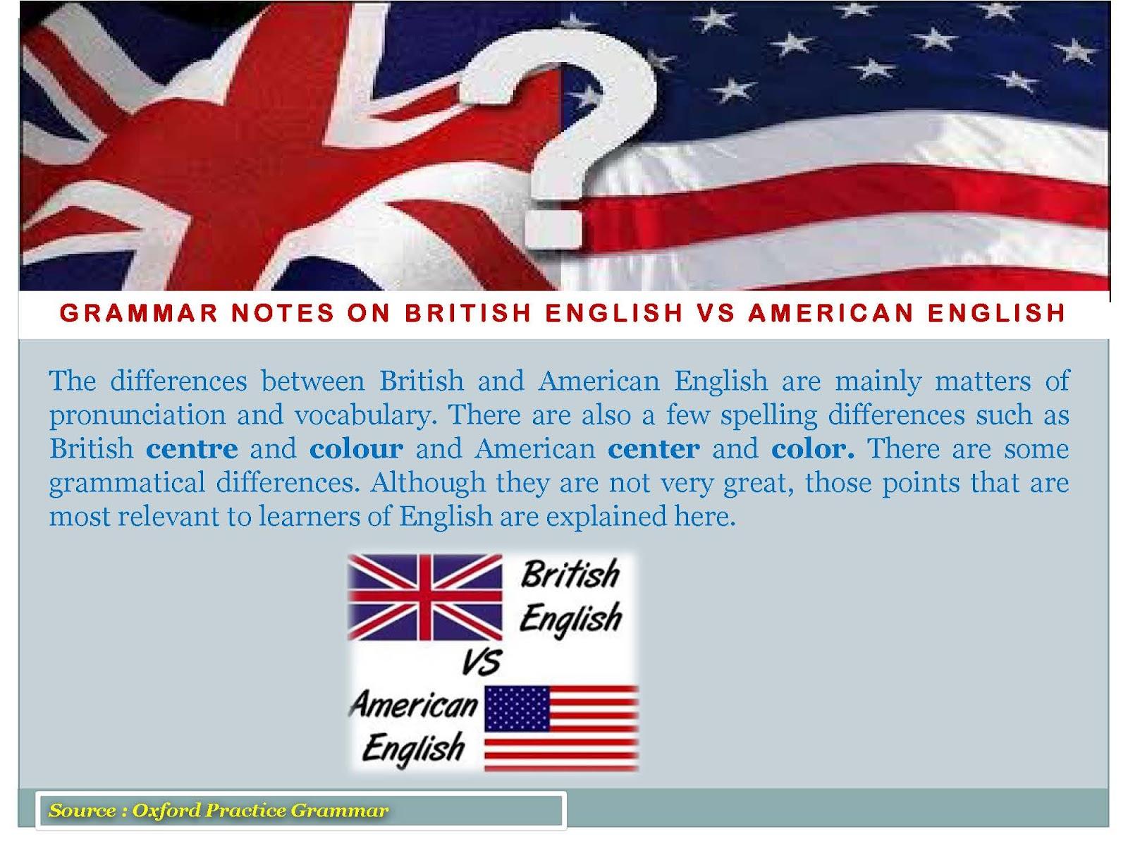 Thầy Sa: Grammar Notes on British English vs American English
