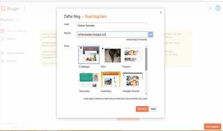 Membuat Pendaftaran Blogger