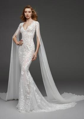 K'Mich Weddings - wedding planning - wedding dresses - white lace, long sheer sleeves wedding dress - aletlier pronovias
