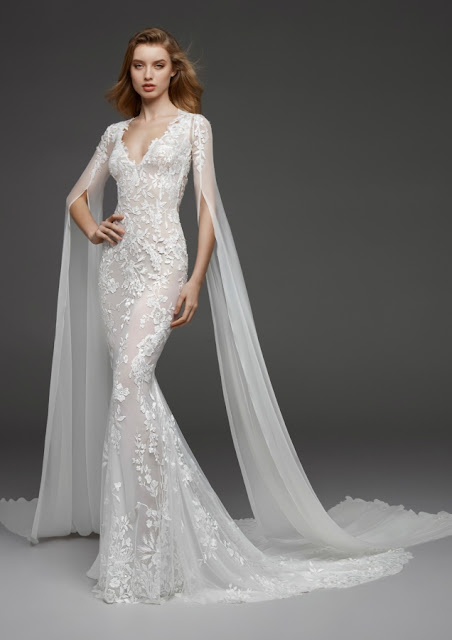 K'Mich Weddings - wedding planning - wedding dresses - white lace, long sheer sleeves wedding dress - aletlier pronovias