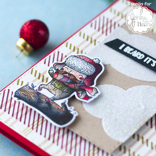 How To Make Snow White Clouds on Kraft Cards?