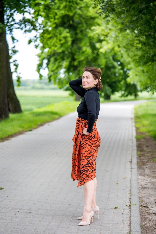 Laurella Tiger Print Skirt