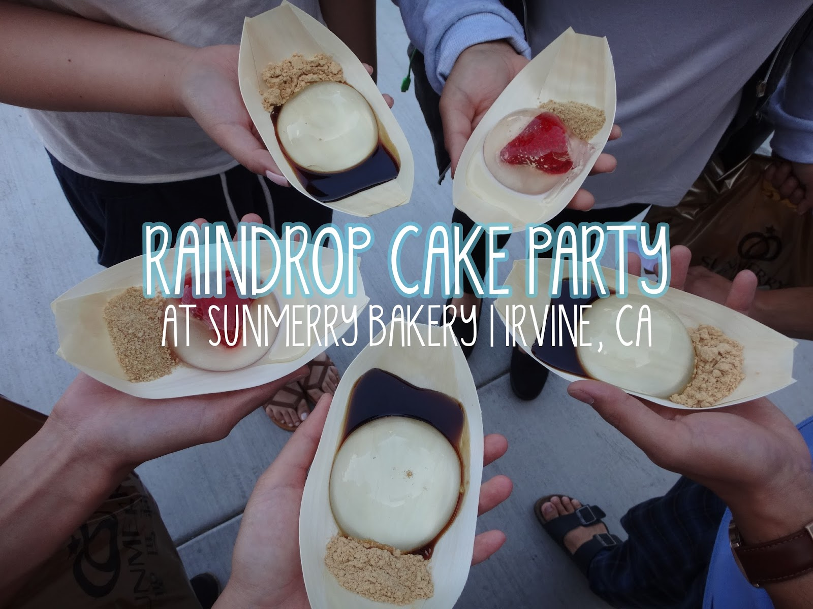 IT'S SO HOT! SO THANK GOODNESS FOR THESE RAINDROP.....CAKES! @ SUNMERRY BAKERY - IRVINE