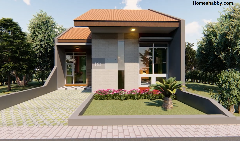 Desain Dan Denah Rumah Minimalis Type 30 Luas Tanah 6 X 10 M Dengan Eksterior Dan Interior Menawan Homeshabby Com Design Home Plans Home Decorating And Interior Design