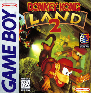 Portada del cartucho de DK Land 2 para la portátil Nintendo Game Boy (1994)
