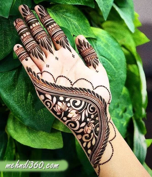 Side hand Mehndi Design