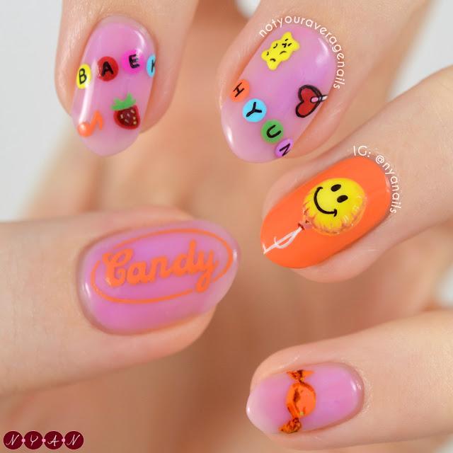 Baekhyun Candy Nails