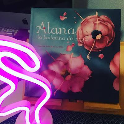 Alana la bailarina del agua, alice cardoso, sandra serra, obelisco ediciones, picarona, que estás leyendo, album ilustrado,