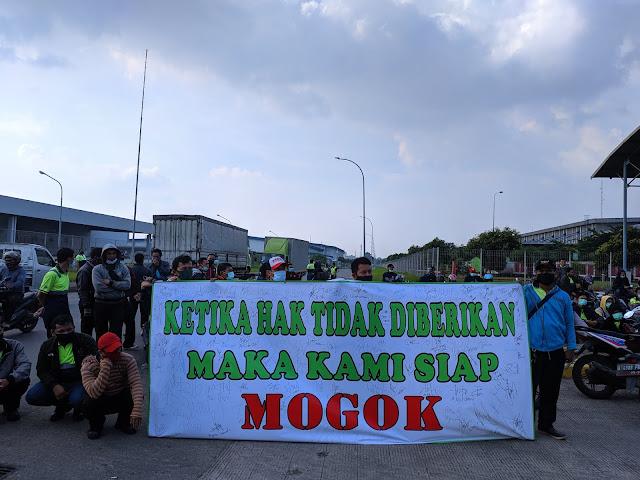 Aksi Pra Mogok SP Linfox